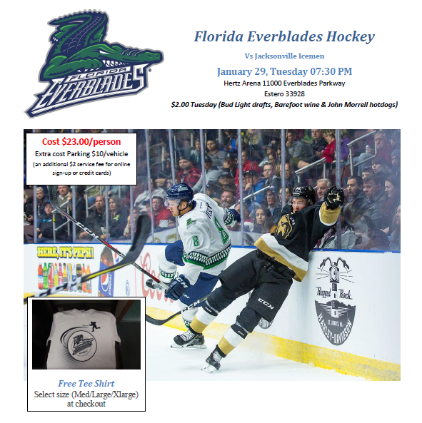 Everblades Hockey New Resident Club Of Cape Coral